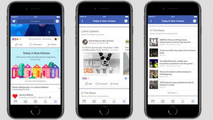 Facebook тестира новa апликација за локални вести и случувања