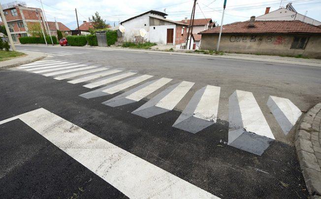 Скопје го доби првиот 3Д пешачки премин како мерка против брзото возење