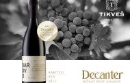 """Врвното црвено вино """"Барово"""" на Decanter прогласено за едно од најдобрите во светот!"""