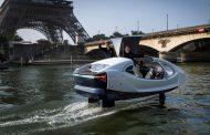Летачките такси Sea Bubbles се тестираат на Сена во Париз
