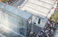Новата продавница на Apple во Милано се наоѓа под земја, а над неа има драматична фонтана