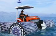 ВИДЕО: Овој трактор се претвора во чамец кога ќе доjде до вода