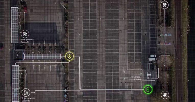 Со паметната Smart Solar Charging Station eлектричните автомобили можат да се полнат со соларна енергија и дење и ноќе