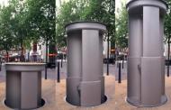Овој јавен тоалет се појавува само ноќе, а дење се сокрива под земја