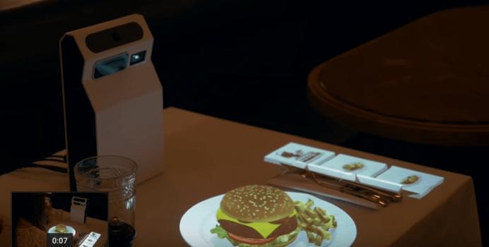 Oвој ресторан од иднината ви покажува 3D слики од секој оброк