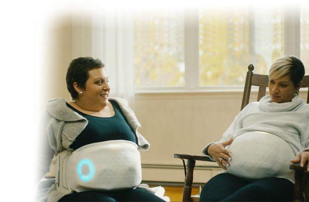 Паметен појас им овозможува на жените кои користат сурогат мајка да ги почувствуваат движењата на своето бебе