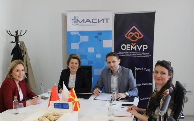 Стопанската комора за информатички и комуникациски технологии (МАСИТ) и Стопанска комора на Северозападна Македонија потпишаа Меморандум за соработка