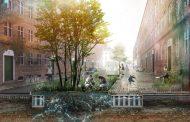 Данска компанија направи тротоар кој ја собира и ја реупотребува дождовната вода