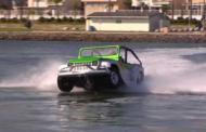 Овој автомобил може да вози по вода!
