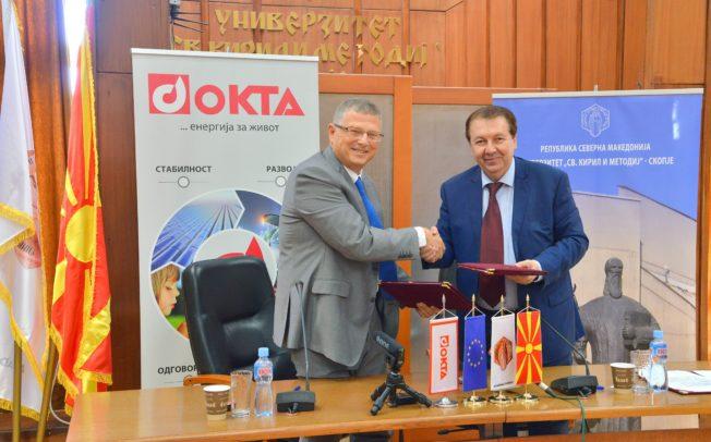 ОКТА и УКИМ потпишаа меморандум за стипендирање студенти