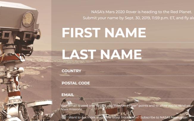 """Над 3.500 лица од земјава досега испратиле имиња за мисијата """"Марс 2020"""""""