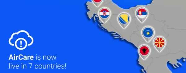 Апликацијата AirCare сега е достапна во седум држави во регионот