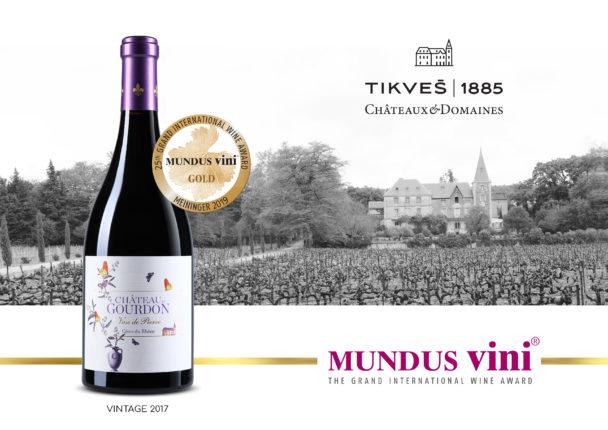 """Златен медал за црвеното вино """"Vase de Pierre 2017"""" на престижниот вински натпревар """"MUNDUS VINI"""" во Германија"""